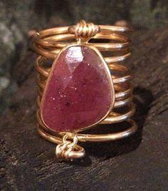 Umba Sapphire Wire Wrap Ring (Rare!)