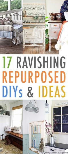 It's always fun to check out some Fun Farmhouse Repurposed DIYS and today we have 17 Ravishing Repurposed DIYS and Ideas.  From Cheese Graters turning into Functional Farmhouse Wall Art to a Crib turn