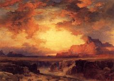 thomas moran watercolor | Moran, Thomas 1837 - 1926 Painter, Engraver, Etcher, Illustrator ...