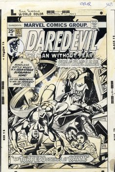 Daredevil 127 cover by Gil Kane and Klaus Janson