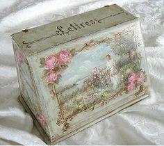 Original French Letter  Box