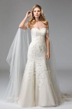 Wtoo Wedding Ellie Cape Style 17902 | Blush Bridal