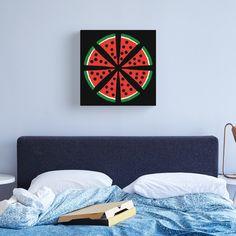 """Watermelon Slices"" Canvas Print by Pultzar   Redbubble"