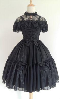 Henrietta -The Rose Grove- Lolita Jumper Dress Short Version