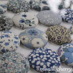 Liberty of Londons fabric print buttons