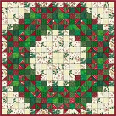 Welcome Wreath Quilt Pattern (beginner, wall hanging). Squares and HSTs. Christmas Quilt Patterns, Christmas Sewing, Christmas Crafts, Christmas Quilting, Xmas, Christmas Tables, Purple Christmas, Coastal Christmas, Beginner Quilt Patterns