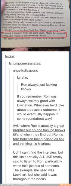 Why you should listen to Ron, ladies and gentlemen.