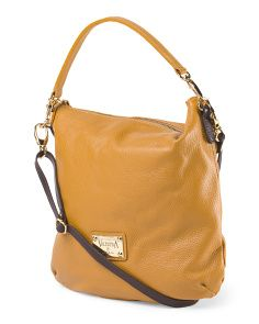 image of Made In Italy Leather Flat Crossbody