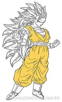 Como Dibujar A Goku Paso 4 Httpcomodibujaresdibujar