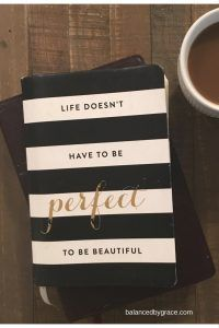 Struggling today mama? Guess what? Life doesn't have to be perfect to be beautiful! Balance, grace, and coffee... a whole lot of coffee. Read on to learn how to find balance in motherhood!