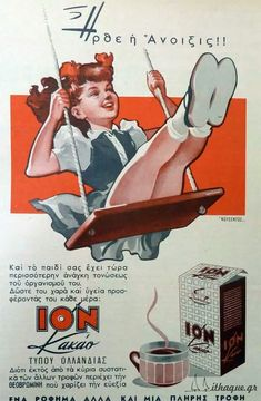 """""""Spring is here"""" Ion cacao ad Vintage Advertising Posters, Old Advertisements, Advertising Signs, Vintage Postcards, Vintage Ads, Vintage Photos, Vintage Graphic, Vintage Stuff, Old Posters"""