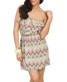 Tribal Button Tube Dress! I need this!