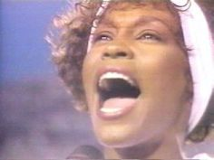 Whitney Houston - THE STAR-SPANGLED BANNER Video with F-16 flyover.  Love this version. Patriotic, USA, 4th of July