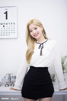 TWICE's Dahyun 'Feel Special' promotion photoshoot by Naver x Dispatch. Nayeon, South Korean Girls, Korean Girl Groups, Asian Woman, Asian Girl, Twice Group, Twice Once, Twice Dahyun, Jennie Lisa