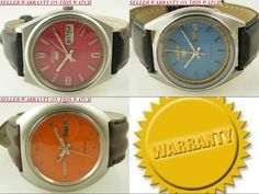 LOT OF 3 ANTIQUE SEIKO 5 AUTOMATIC WATCHES WITH DAY AND DATE FEATURE #Collectible