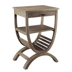 Crestview Collection's Blondelle Accent Table Furniture In Wood can easily blend with your home.Material : Canvas+WoodThis is perfect choice for your dream home. Wood End Tables, End Tables With Storage, A Table, Side Tables, Table Lamp, Space Furniture, Accent Furniture, Living Room Furniture, Rustic Furniture