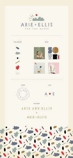 Branding: Arie and Ellis / Children's Boutique Concept by Anna NúñezYou can find Branding design and more on our website.Branding: Arie and Ellis / . Web Design, Website Design, Layout Design, Corporate Design, Brand Identity Design, Graphic Design Branding, Corporate Branding, Brand Design, Graphic Designers