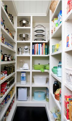 Cubbies like this for small appliances.