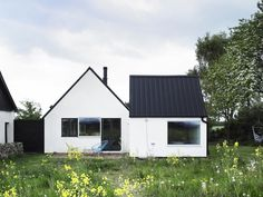 An abandoned farmhouse in Sweden became a family's summerhouse with 3 bedrooms plus a loft in 1,130 sq ft. | www.facebook.com/SmallHouseBlis...
