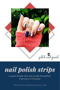 Nail Polish Stickers, Nail Polish Strips, Diy Manicure, Pedicure, Mom Style, Simple Style, Fall Nail Trends, Pearl Nails, Stylish Nails