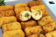 croquetas de calabacin con o sin Thermomix Veg Recipes, Kitchen Recipes, Vegetarian Recipes, Cooking Recipes, Healthy Recipes, Good Food, Yummy Food, Easy Food To Make, Cheap Meals