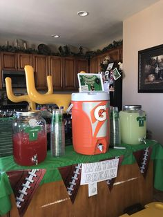 53 Perfect Home Decoration Ideas with Super Bowl Theme - Talkdecor - 53 Perfect Home Decoration Ideas with Super Bowl Theme – Talkdecor - Football Theme Birthday, Sports Themed Birthday Party, Birthday Themes For Boys, Football Themes, Boy First Birthday, Boy Birthday Parties, Birthday Ideas, Sports Party, Football Party Decorations