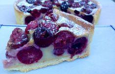 CLAFOUTIS DE CEREZAS. TARTA DE CEREZAS FRANCESA - MY EUROPEAN CAKES French Toast, Cheesecake, Chocolate, Breakfast, Desserts, Food, Image, Vestidos, Cherry Tart