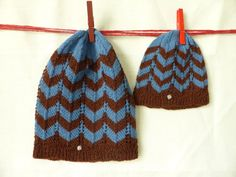 Mommy and me Mom and baby matching knit hats set of 2 baby shower gift Mom And Baby, Mommy And Me, My Mom, Mom Hats, Baby Hats, 2nd Baby Showers, Best Baby Shower Gifts, Knit Hats, Zig Zag Pattern