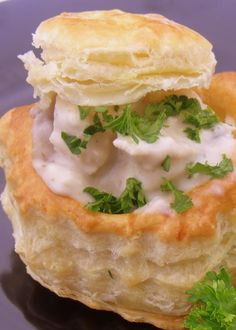 Chicken and Mushroom Vol-Au-Vents - French Cuisine