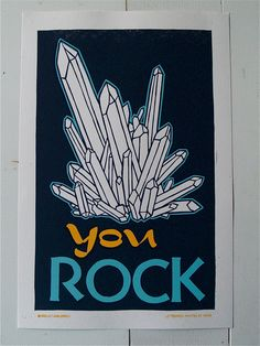 You Rock hand printed Letterpress print | Roll & Tumble Press