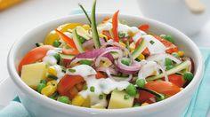 Insalata di verdure miste allo yogurt