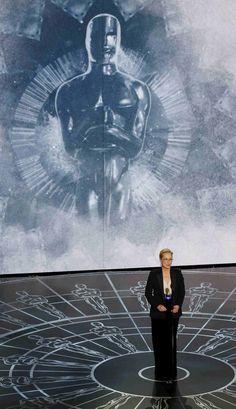 "Meryl Streep, ""In Memoriam"" Presenter at the 2015 Academy Awards"