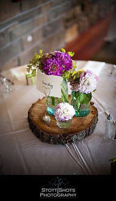 mason jar centerpieces | Mason Jar centerpiece | When I become Mrs. Langel!!
