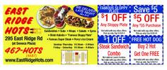 East Ridge Hots #valpak #rochester #hotdogs #garbageplates #coupons