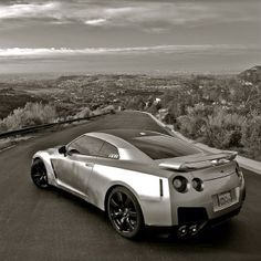 Cool Black and White GT-R shot