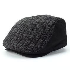 8b2576e8fd79fa Apt 9 Mens Knit Marled Ivy Cap Acrylic Black grey size S-M NEW 14.99 http: