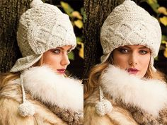 вязаная зимняя шапочка-шлем
