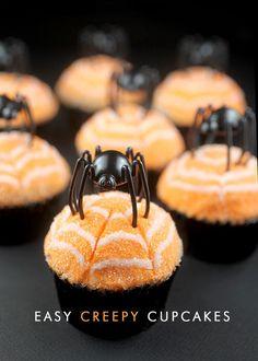 Easy Creepy Cupcakes