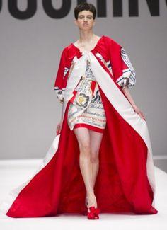 Moschino Milan fashion week aw14 Jeremy Scott - beer dress