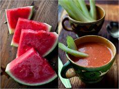 Recipe for watermelon gazpacho -- refreshing!
