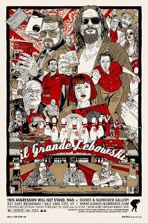 INSIDE THE ROCK POSTER FRAME BLOG: New Tyler Stout The Big Lebowski movie poster on s...