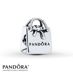 Pandora Charm Pandora Shopping Bag Sterling Silver