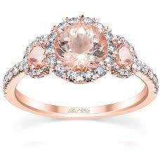 Image result for rose quartz engagement ring