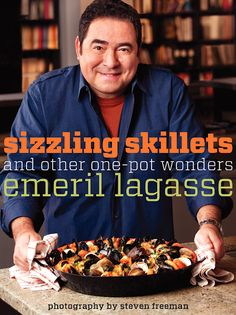 """Read """"Sizzling Skillets and Other One-Pot Wonders"""" by Emeril Lagasse available from Rakuten Kobo. In chef Emeril Lagasse's tribute to one-pot wonders, he shows there's nothing more satisfying than a hearty meal prepare. Cajun Recipes, Copycat Recipes, Seafood Recipes, Cooking Recipes, Chef Recipes, Chicken Recipes, Barbecue Recipes, Sauce Recipes, Fish Recipes"""