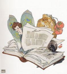 Me gusta vivir entre libros (ilustración de Edmund Dulac)