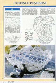 "Photo from album ""Prestigio collana: Bomboniere Inamidate - on Yandex. Crochet Vase, Diy Crochet Basket, Crochet Ornaments, Handmade Ornaments, Crochet Gifts, Crochet Motif, Crochet Doilies, Crochet Flowers, Easter Crochet Patterns"
