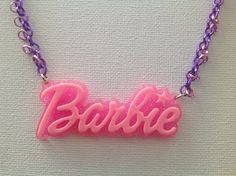 Barbie Pink and Purple Necklace