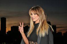 Delta Goodrem Long Straight Cut with Bangs - Delta Goodrem Hair Looks - StyleBistro