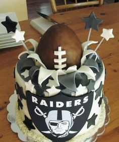 Oakland Raiders Raiders football cake