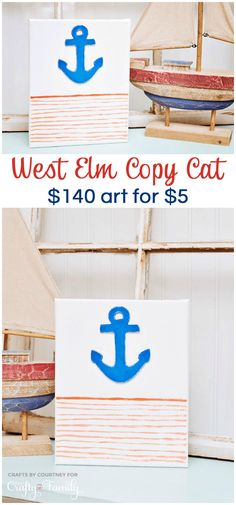 Beautiful West Elm copy cat wall decor. We made this for $5 - the original was $140!
